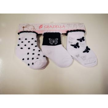 Calze neonato in cotone 3 paia