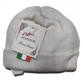 Cappellino neonato pura lana