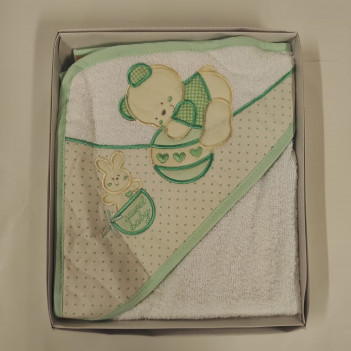 Accappatoio triangolo neonato